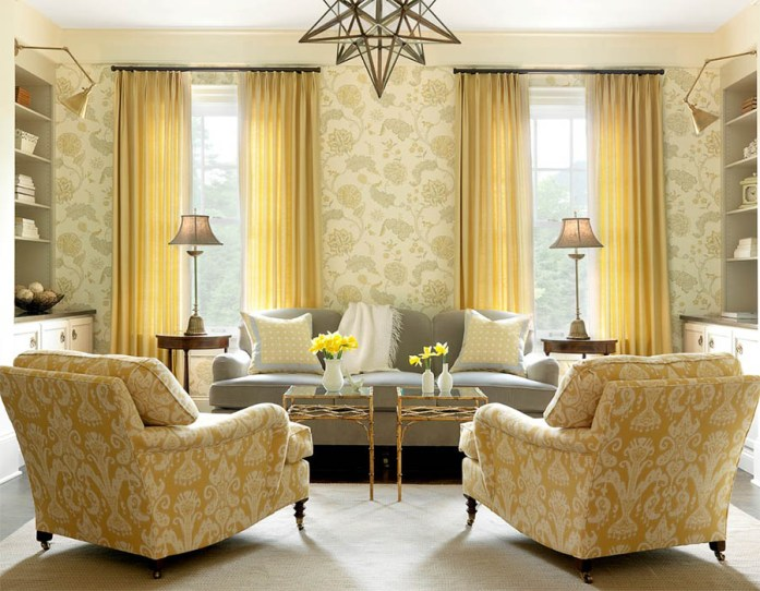 Curtains Matching wih Wall Colour
