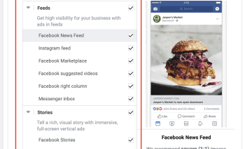 decide facebook ad placements