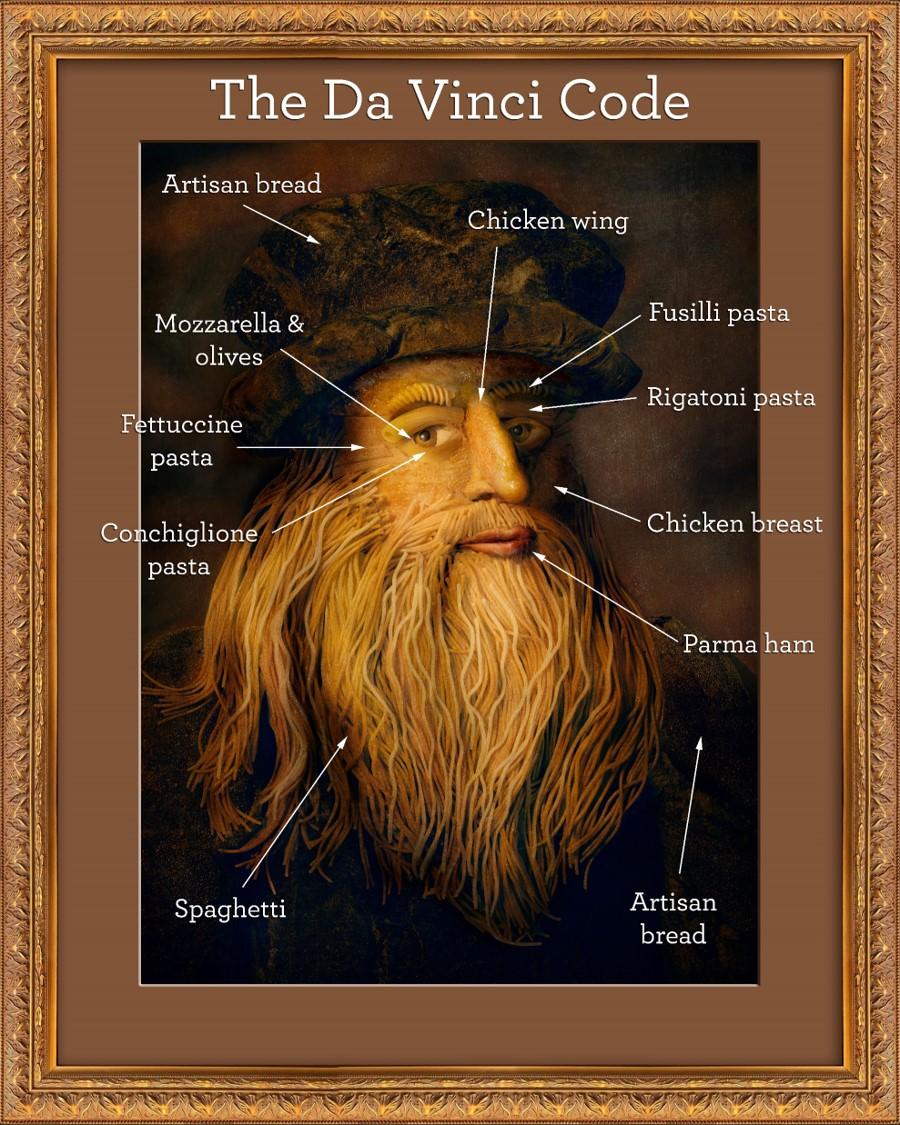 Artist Recreates Da Vinci S Famous Self Portrait With Italian Ingredients Businessmole