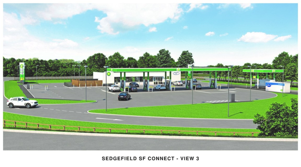 Plans for a new BP station and Marks and Spencer Simply Food store unveiled