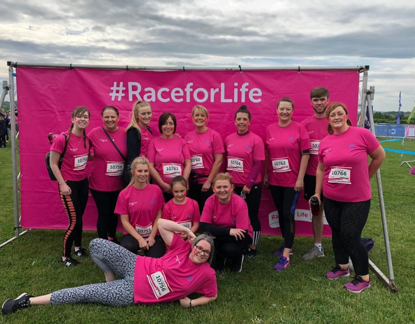 Global automotive technology producer raises over £1,000 for cancer charity