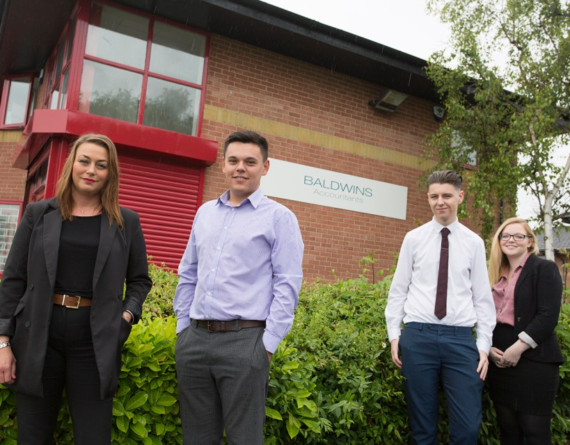 Accountancy firm Baldwins invests in its future with intake of apprentices