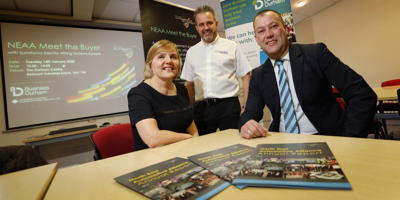 First tenant of Jade Business Park meets local Durham businesses