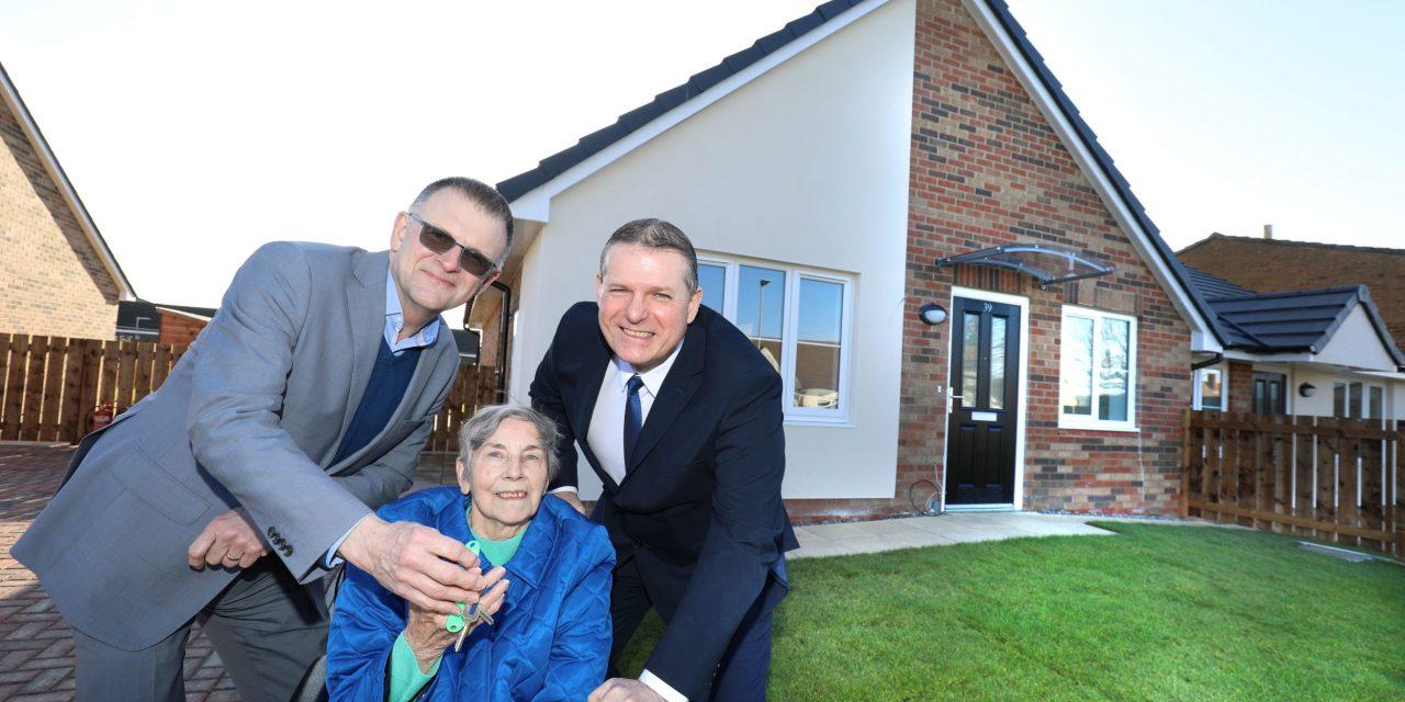 Bernicia hands over the keys to nine new affordable homes