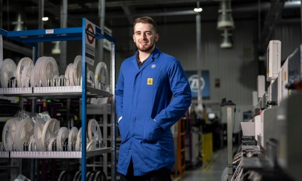 Automotive technology firm offers former apprentice Lewis a permanent role