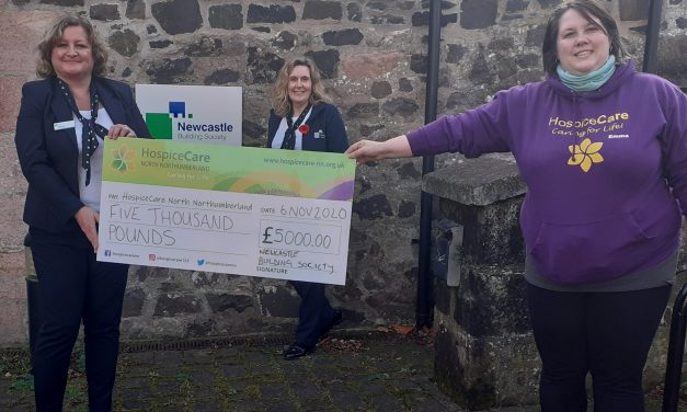 Two Northumberland hospice charities share £10,000 grant from NBS