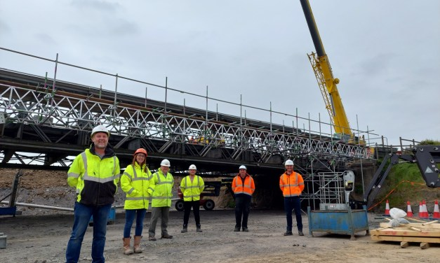 Lift off for Northumberland bridge as it makes its way to a new home