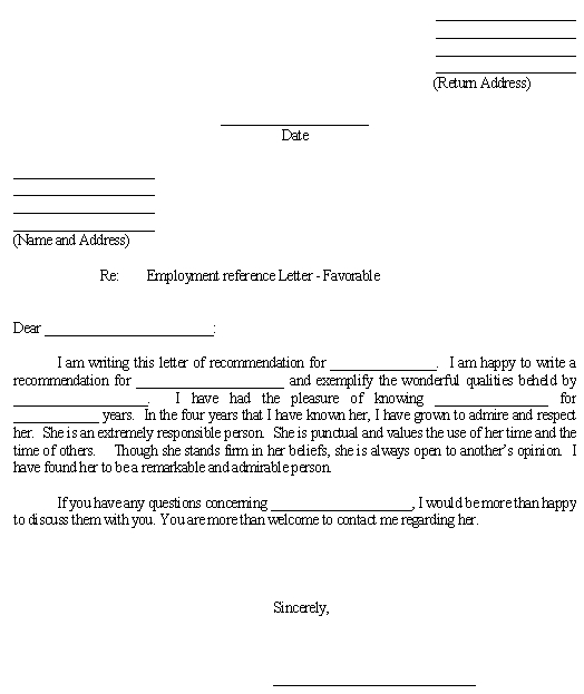 Reference Letter Employer For Landlord