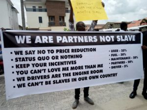Uber Drivers Protest in Lagos