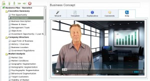 To watch a brief overview of the web-based BizPlanBuilder online business plan app, click here...
