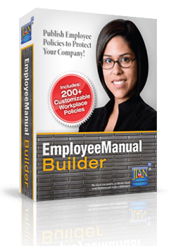 image box Employee Manual Builder HR management employee policies policy handbook software template online cloud word
