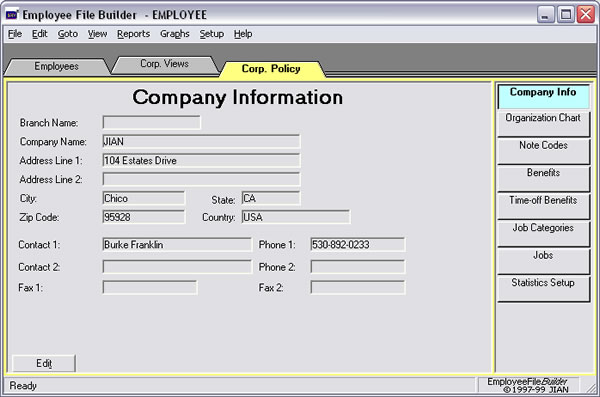 Employee Record Keeping System For Small Business