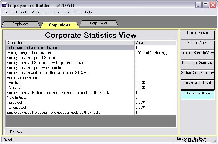 employee data hr management stat statistics software app
