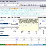 business planning excel valuation template