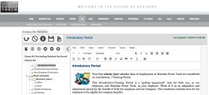 HR employee policies handbook manual editor software template