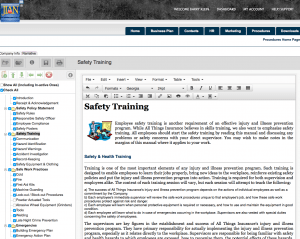 osha safety training injury and illness prevention handbook software template