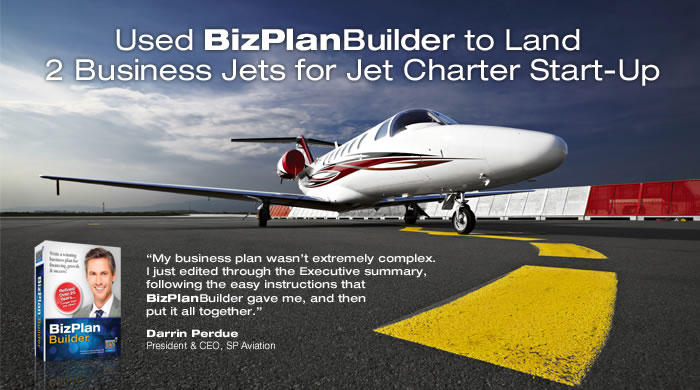 BizPlanBuilder business plan software template Success Story case - aviation