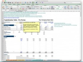 business plan software excel template financial model cap table