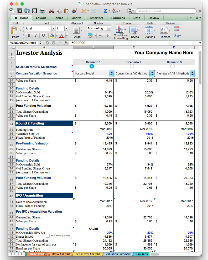 screen image jian bizplanbuilder business plan software excel model template investor analysis
