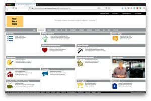 Business Plan Builder software template dashboard demo video