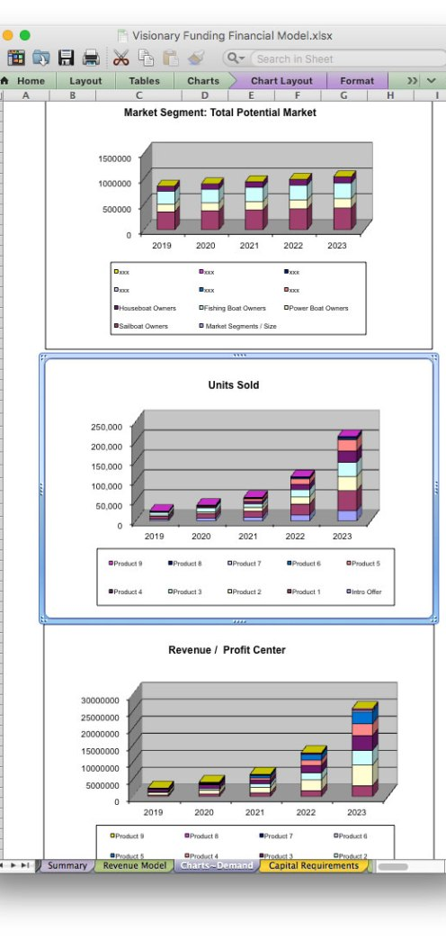 screen image bizplanbuilder business plan financial projection excel template