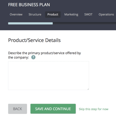 free business plan software template