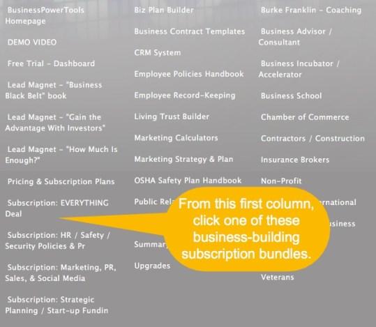 affiliate links to business software bundles