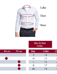 Van heusen size chart also mens shirt guide shirts rh businessshirtsplus