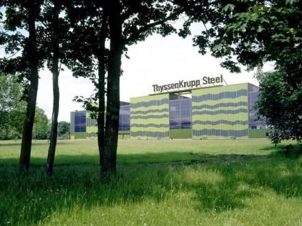 Facade in ThyssenKrupp's new rolling mill. Photo: ThyssenKrupp AG