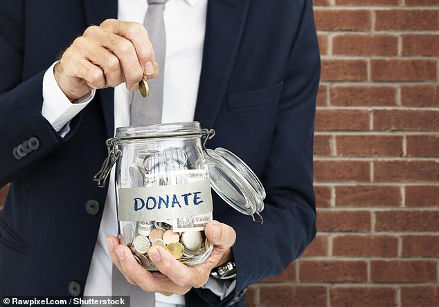 Reminding potential donors that giving to charity benefits them in some way is the best way to encourage generosity, according to researchers from the US and Australia (stock image)