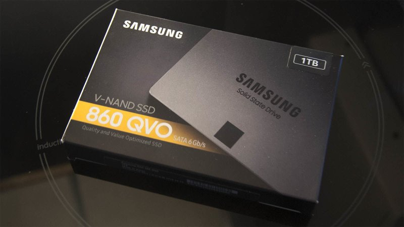 Samsung 860 QVO SSD box