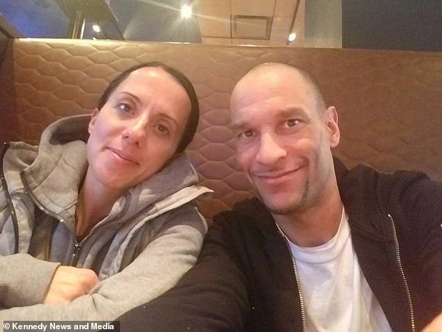 His wife Dora Moniz-DePass (pictured together) was initially 'disgusted' by his nauseating 'diet'. Although she has since accepted it, he is still not allowed to kiss her until hours later