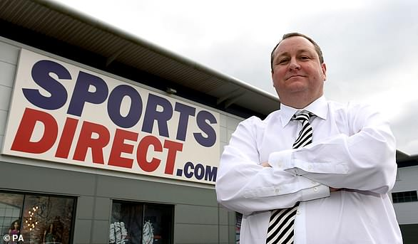 Sports Direct boss Mike Ashley, pictured, promised to turn House of Fraser into 'the Harrods of the high street' when he bought the chain for £90m in August
