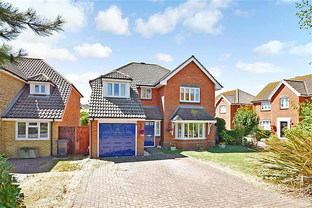 The four-bedroom detached house in Herne Bay, Kent, is for sale for £304,000, the same price as the three cheapest properties for sale in Britain