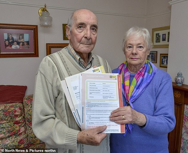 Cut their losses: James and Dorothy Young and the SunLife policy hehas now surrendered