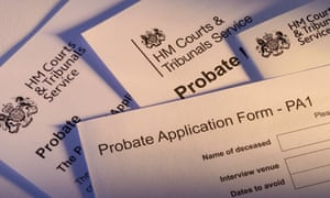 Forms from HM Courts & Tribunals Service for probate.