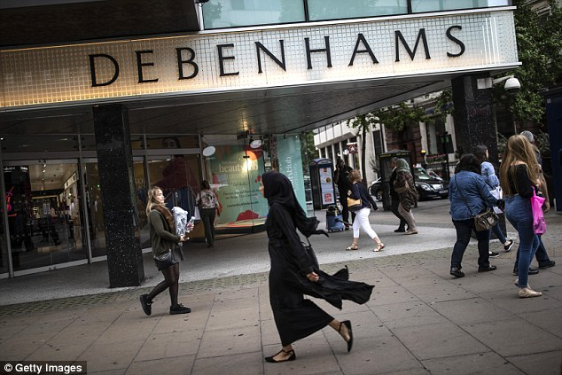 Struggling: Debenhams has received cash injection of £40million from its lenders