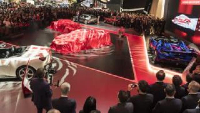 Ferrari car unveiling