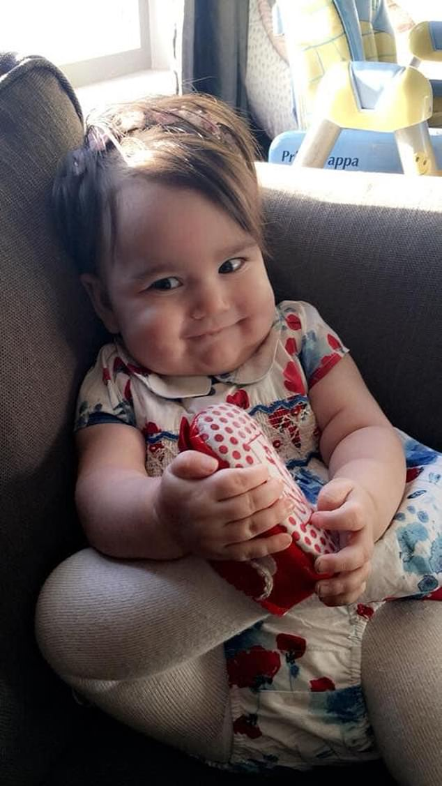 At 10 months old, Ms Cunningham instinctively knew something wasn't right when Mirryn stopped trying to hold her hand or rock in her baby bouncer