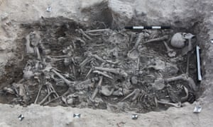 Bones of Crusaders found in a burial pit in Sidon, Lebanon