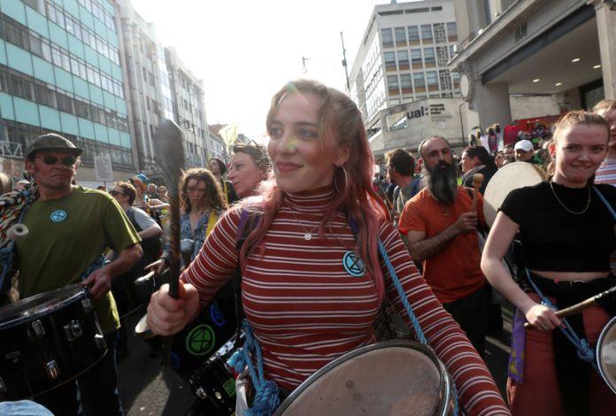 © Reuters. Extinction Rebellion protest in London