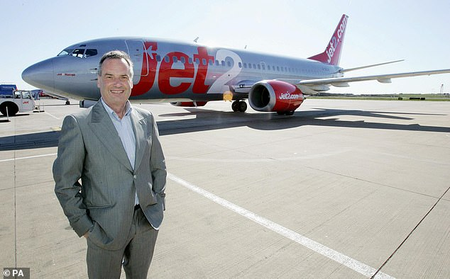 Jet2 boss Philip Meeson.His company, the UK's fourth-biggest airline, has taken the aviation watchdog to court after it was criticised for not signing up to an industry-wide compensation scheme
