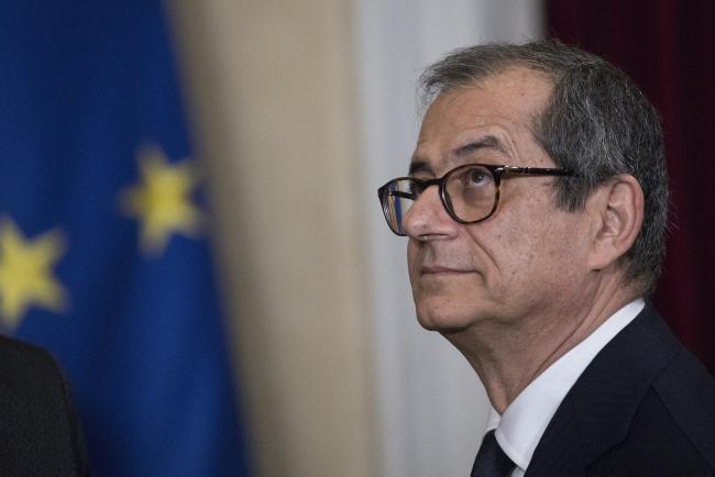 &copy Bloomberg. Giovanni Tria, Italy's finance minister, looks on during the signing of the memorandum of understanding on China's Belt and Road Initiative at Villa Madama in Rome, Italy, on Saturday, March 23, 2019. Xi Jinping recruited Italys populist government into his global Belt and Road development project, with the signing of an accord that has sparked worries in the U.S. and European Union over the Asian powers push for economic domination.