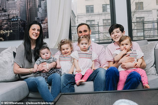 Big brood! Tracy Park, 43, and her husband Peter, 42, ended up with five children after they turned to IVF and surrogacy in an attempt to conceive a second child