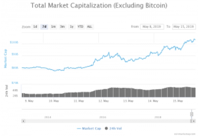 Market Capitalization excluding Bitcoin