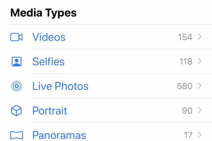 live photos list