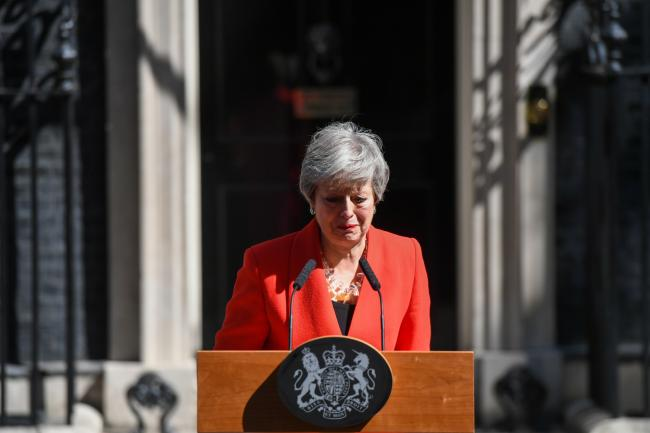 © Bloomberg. Theresa May on May 24. Photographer: Chris J. Ratcliffe/Bloomberg