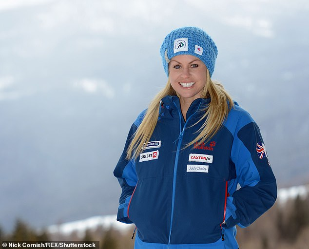 Comeback: Chemmy Alcott skied for Britain in the 2014 Olympics in Sochi