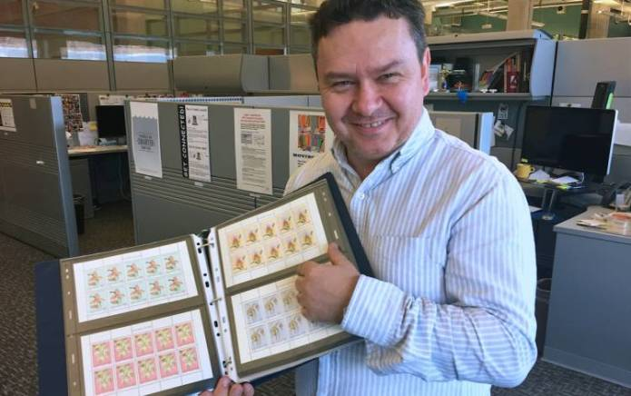 Andrew Stasiuk collects stamps from around the world.