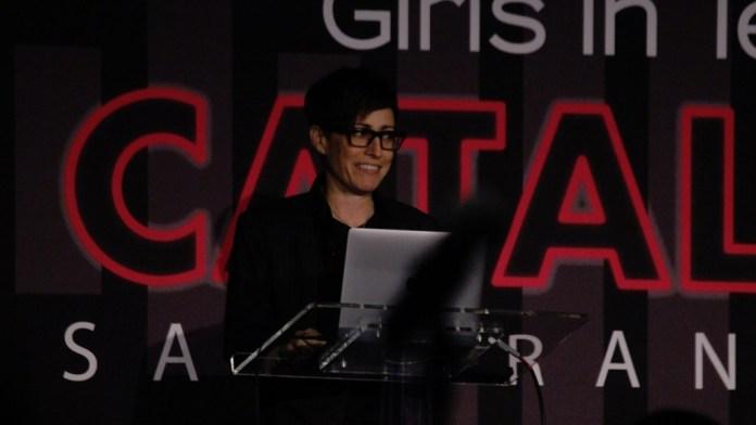 Danielle Feinberg, technical director at Pixar, speaks at Catalyst.